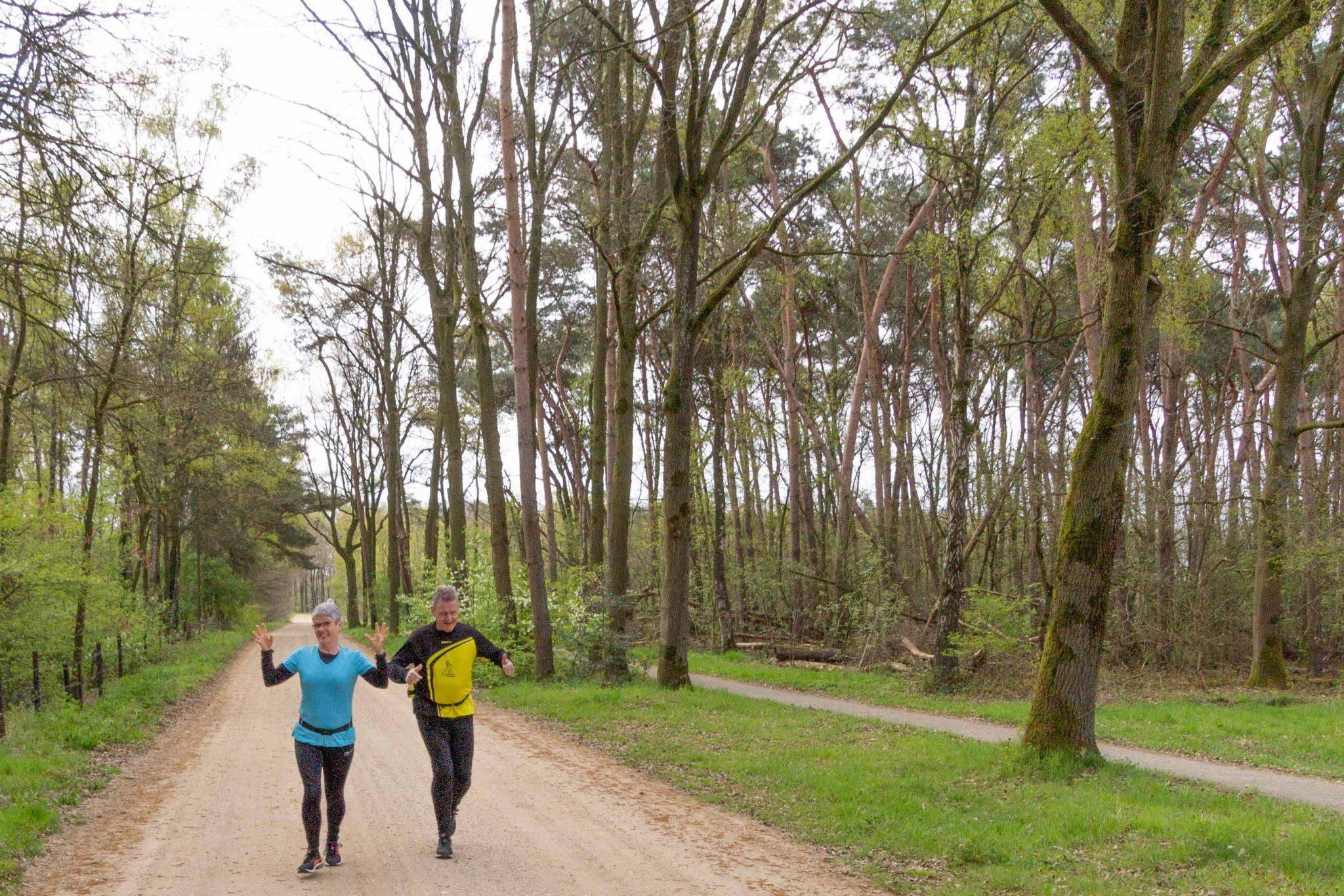 Lekker weer, ontmoetingen, hardlopen en wandelen